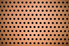 Orange malte Kreis durchlöcherte Metallplatte für Beschaffenheit und BAC lizenzfreies stockfoto