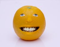Orange man. Orange with a smiling face Royalty Free Stock Photography