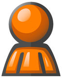 Orange Man Avatar Icon Royalty Free Stock Image
