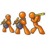 Orange man band Stock Photo