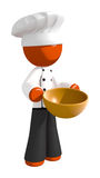 Orange Man Chef with Bowl Stock Images