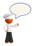Orange Man Chef Word Bubble Royalty Free Stock Photos