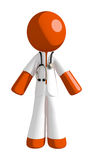Orange Man Doctor Stock Photography
