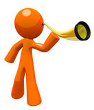 Orange Man With Golden Ear Trumpet Stock Photography