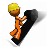 Orange Man Roofer Working Royalty Free Stock Photography