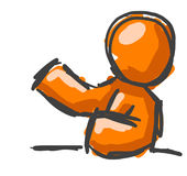 Orange man sketch drawing Royalty Free Stock Photos