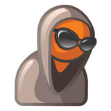 Orange Man with Sunglasses and Hoodie Stock Images