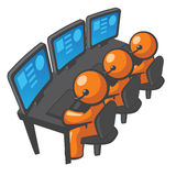 Orange Man Telemarketing or Phone Support stock illustration