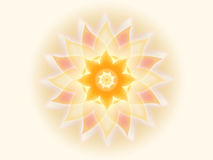 Orange Mandala 001-1. Orange mandala on white background stock illustration