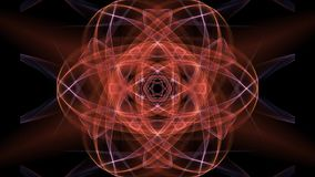 Orange mandala with blurry light effect for energy obtaining, spiritual training, concentration exercises. FullHD video 1920x1080 stock video