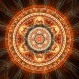 Orange mandala Royalty Free Stock Photo