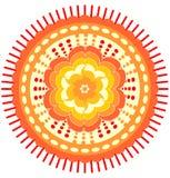 Orange Mandala für den Energieerhalt Stockbild