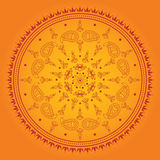 Orange mandala Stock Photography