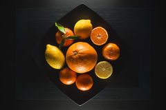 Orange mandarin Stock Photos