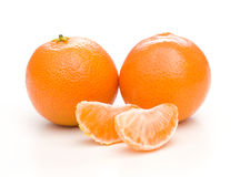 Orange mandarin or tangerine fruit Royalty Free Stock Photos