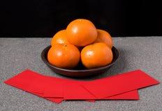 Orange, Mandarine Stockfoto