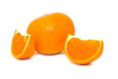 Orange mandarine with lobules Stock Image