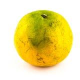 Orange mandariner på en vit bakgrund Arkivbild