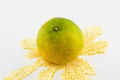 Orange mandariner på en vit bakgrund Royaltyfri Fotografi