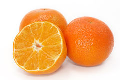 Orange mandarines Stock Photos