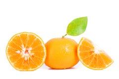 Orange mandarins Stock Images