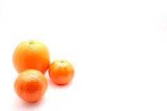 Orange and mandarins for text Royalty Free Stock Photos