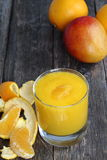 Orange and mango smoothie. Royalty Free Stock Image