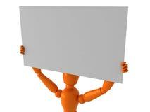 Orange mannequin Royalty Free Stock Photo