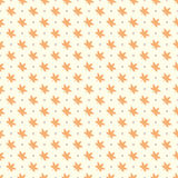 Orange maple leaves seamless pattern Stock Image