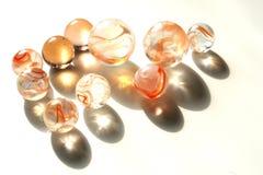 Orange marbles. Variety of orange marbles Stock Photos