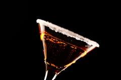Orange margareta fresh Coctail isolated on black Stock Image