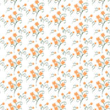 Orange marigold seamless Pattern. Repetitive floral vector seamless pattern Stock Image