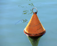 Orange Maritime Buoy Stock Photo
