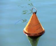 Orange Maritime Buoy Stock Photo
