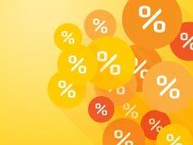 Orange mark percent discount Stock Images