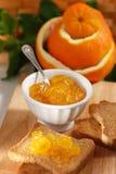 Orange marmalade in bowl Royalty Free Stock Images