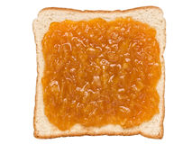 Orange marmalade jam sandwich Royalty Free Stock Images