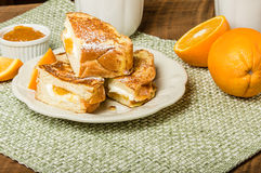 Orange marmalade stuffed toast Royalty Free Stock Image