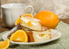 Orange marmalade stuffed toast Royalty Free Stock Photography
