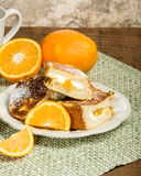 Orange marmalade stuffed toast Stock Photography
