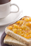 Orange Marmalade On Toast Stock Photo