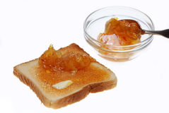 Orange Marmalade on Toast Royalty Free Stock Photos