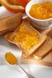 Orange marmalade on toast Stock Image