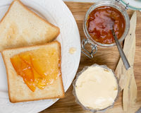 Orange marmalade toast Royalty Free Stock Photo