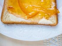 Orange marmalade toast Stock Photo