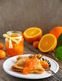 Orange marmalade vanilla. Stock Photo