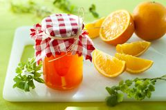 Orange marmelade Stock Image
