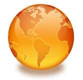 Orange Marmorkugel Stockfotos