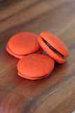 Orange marron cookies with chocolate Royalty Free Stock Photography