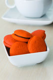 Orange marron cookies with chocolate Stock Photography